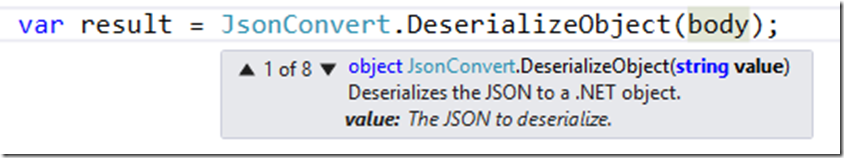 Deserializing JSON object to runtime type or dynamic types